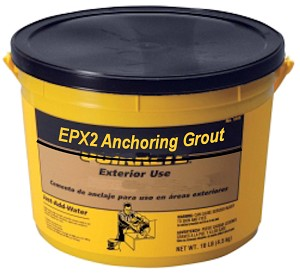 EPX2 grout in 10 lbs. Plastic Tub